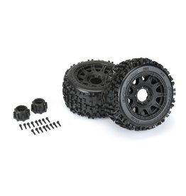"Pro-Line PRO117810 - Badlands 3.8"" All Terrain MT Tires, Raid Black Mounted 8x32 17mm Hex"
