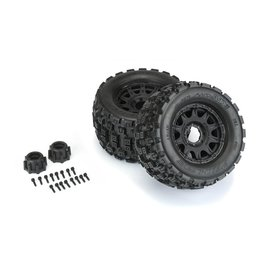 "Pro-Line PRO1012710 - Badlands MX38 3.8"" Mounted Raid MT Tires, 8x32 17mm F/R"