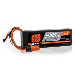 Spektrum SPMX50002S100H5 - 7.4V 5000mAh 2S 100C Smart Hardcase LiPo Battery: IC5