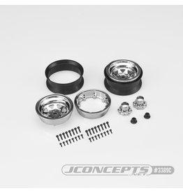 """JConcepts JCO3389C - Colt 1.9"""" Beadlock Wheel with Cap - Chrome (2pcs)"""