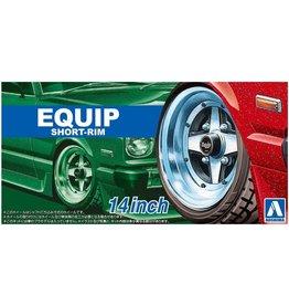 Aoshima 05547 - 1/24 EQUIP Short-Rim - 14 Inch Wheels