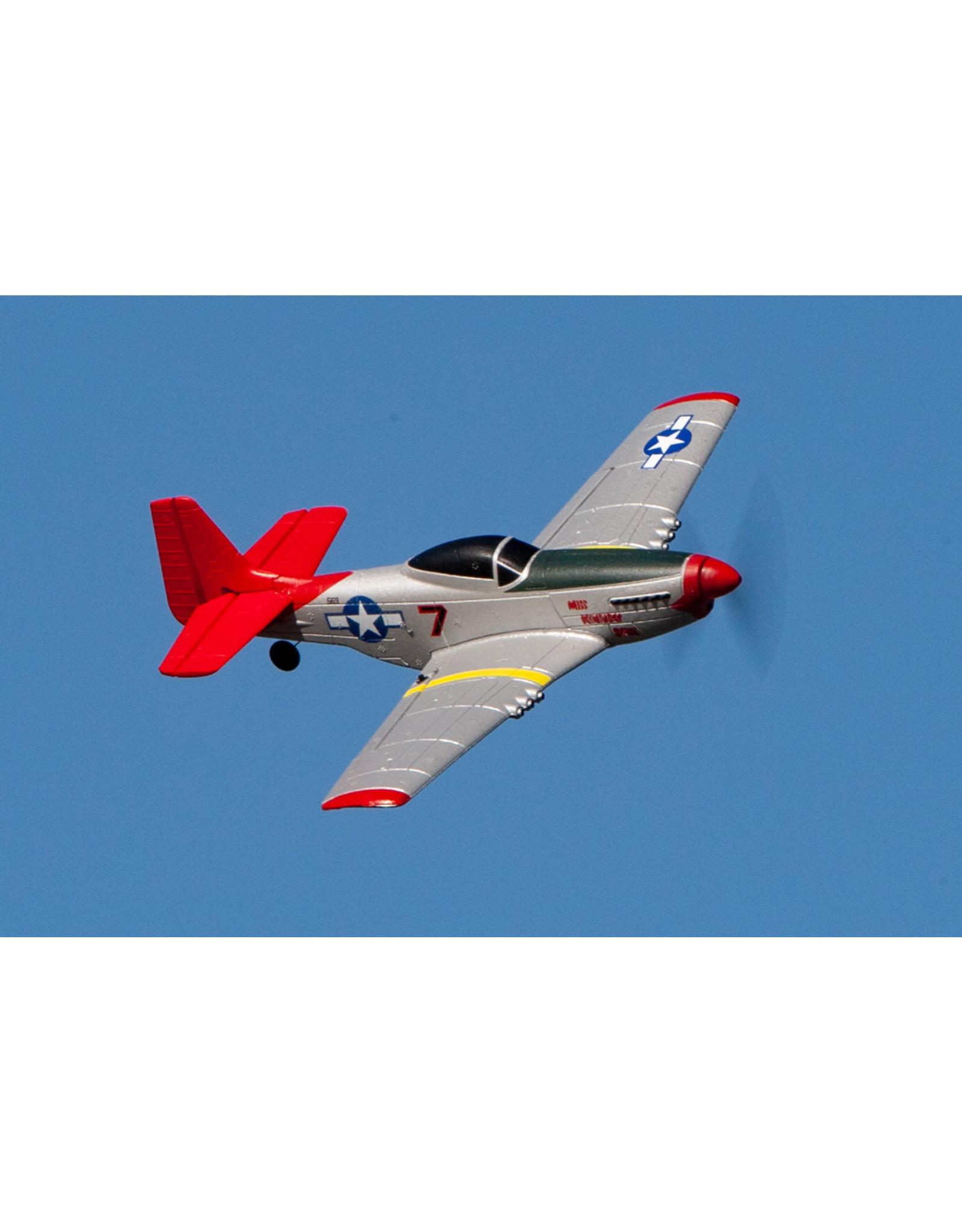 Rage RC RGRA1300 - P-51D Mustang Micro RTF Airplane w/PASS