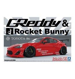 Aoshima 06186 - 1/24 ZN6 Toyota 86 '12 Greddy & Rocket Bunny Enkei Ver