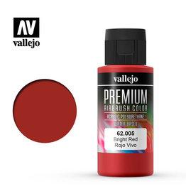 Vallejo 62.005 - Premium Airbrush Color Bright Red - 60ml