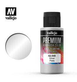 Vallejo 62.048 - Premium Airbrush Color Silver - 60ml