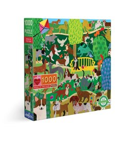 Eeboo Dogs in the Park - 1000 Piece Puzzle