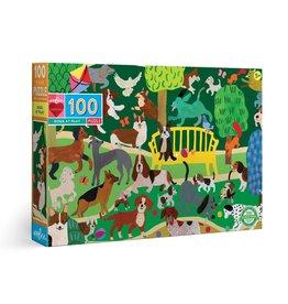 Eeboo Dogs at Play - 100 Piece Puzzle