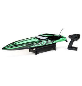 "Pro Boat PRB08037T1 - Impulse 32"" Brushless Deep-V RTR with Smart - Black/Green"