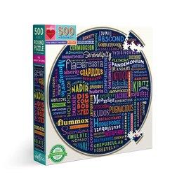 Eeboo 100 Great Words - 500 Piece Puzzle
