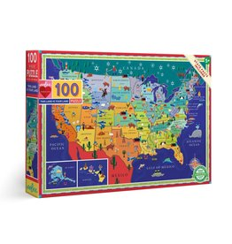 Eeboo This Land is Your Land - 100 Piece Puzzle