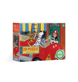 Eeboo Red Fire Truck - 20 Piece Puzzle