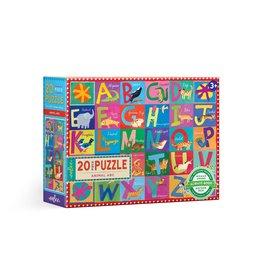 Eeboo Animal ABC - 20 Piece Puzzle