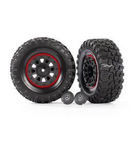 "Traxxas 8874 - 2.2"" Black Mercedes-Benz® G 63® Wheels / Canyon RT 4.6x2.2"" Tires"
