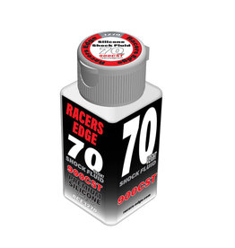 Racers Edge RCE3270 - 70 Weight, 900cSt, 70ml 2.36oz Pure Silicone Shock Oil