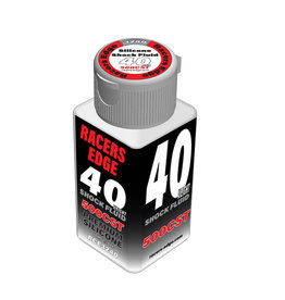 Racers Edge RCE3240 - 40 Weight, 500cSt, 70ml 2.36oz Pure Silicone Shock Oil