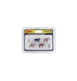 Woodland Scenics A2159 - N Scale Horseback Riders