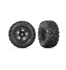 """Traxxas 3778 - Black 2.8"""" Wheels / Sledgehammer Tires"""