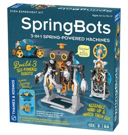 Thames & Kosmos Spring Bots: 3-in-1 Spring-Powered Machines