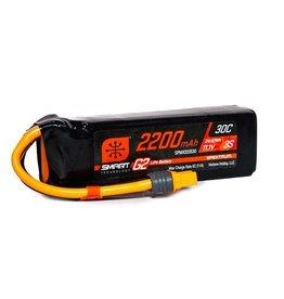 Spektrum SPMX223S30 - 11.1V 2200mAh 3S 30C Smart G2 LiPo Battery: IC3