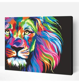 Wise Elk Artwille - Neon Lion DIY Paint by Numbers