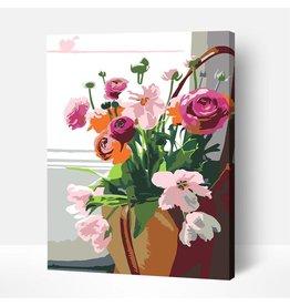 Wise Elk Artwille - Flowers (Mixed Vase) DIY Paint by Numbers