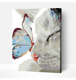 Wise Elk Artwille - Butterfly on Cat's Nose DIY Paint by Numbers