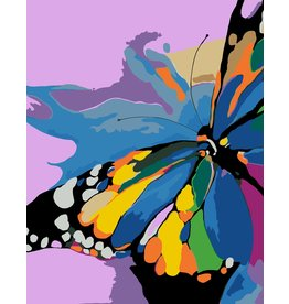 Wise Elk Artwille - Bright Butterfly DIY Paint by Numbers