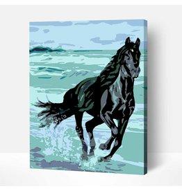Wise Elk Artwille - Energy (Black Stallion) DIY Paint by Numbers