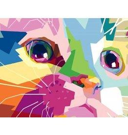 Wise Elk Artwille - Cute Cat DIY Paint by Numbers