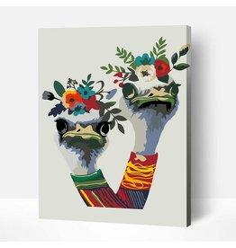 Wise Elk Artwille - Owens in a Wreath DIY Paint by Numbers