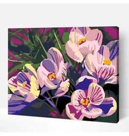 Wise Elk Artwille - Flowers (Purple) DIY Paint by Numbers