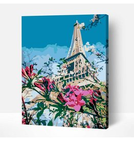 Wise Elk Artwille - Scenery (Flowers and Eiffel Tower) DIY Paint by Numbers