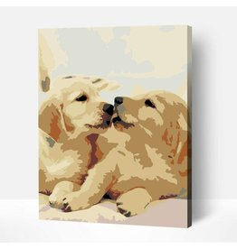 Wise Elk Artwille - Yellow Labs DIY Paint by Numbers