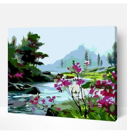 Wise Elk Artwille - Scenery (Mountain Stream) DIY Paint by Numbers