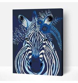 Wise Elk Artwille - Pop Art (Zebra Face) DIY Paint by Numbers