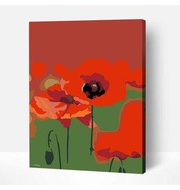 Wise Elk Artwille - Poppies DIY Paint by Numbers