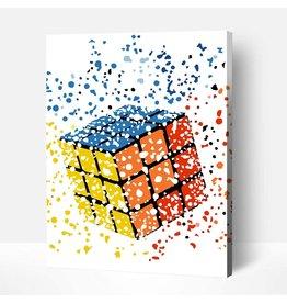 Wise Elk Artwille - Rubik's Cube DIY Paint by Numbers