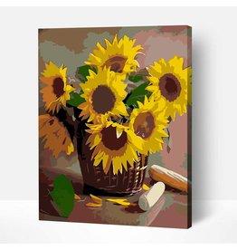 Wise Elk Artwille - Sunflowers (Wicker Basket) DIY Paint by Numbers