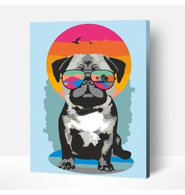 Wise Elk Artwille - Pug on Vacation DIY Paint by Numbers