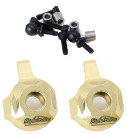 Power Hobby PHBPHSCX2407 - Brass Front Steering Knuckle Axial SCX24
