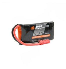 Spektrum SPMX8001S30 - 3.7V 800mAh 1S 30C LiPo Battery: JST
