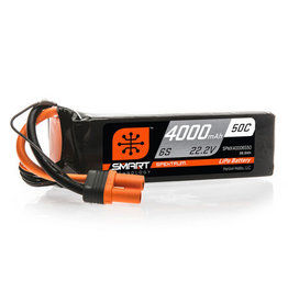 Spektrum SPMX40006S50 - 22.2V 4000mAh 6S 50C Smart LiPo Battery: IC5