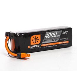 Spektrum SPMX40004S30 - 14.8V 4000mAh 4S 30C Smart LiPo Battery: IC3