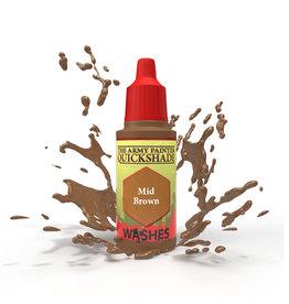 The Army Painter WP1469 - Quickshade Mid Brown 18ml Wash
