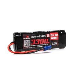 Dynamite DYNB2070EC - 7.2V 3300mAh 6-Cell Speedpack2 Flat NiMH Battery: EC3