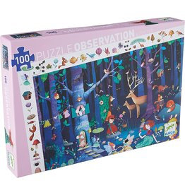 Djeco Observation Puzzle - Enchanted Forest - 100 Piece Puzzle