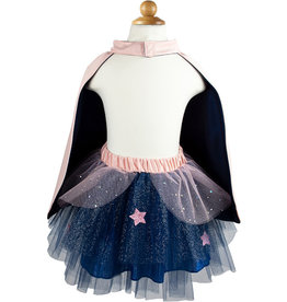 Great Pretenders Super Duper Tutu with Cape & Mask - Navy/Pink, Size 4-6