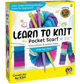 Creativity for Kids Learn to Knit - Pocket Scarf