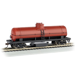 Bachmann 16303 - HO Unlettered, Oxide Red, Track-Cleaning Single-Dome Tank Car