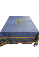 "98"" Cotton Blue with Olives"